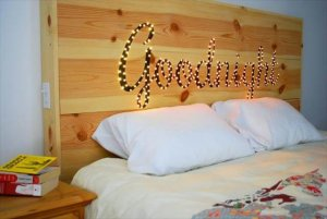 Nice Wooden Headboard Idea