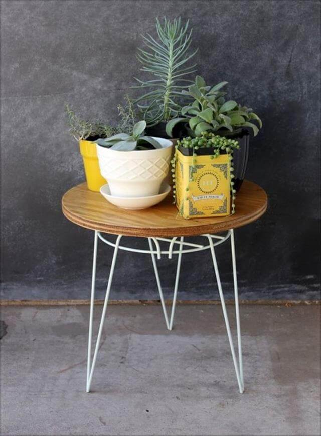 End Table With Hair Pin Legs