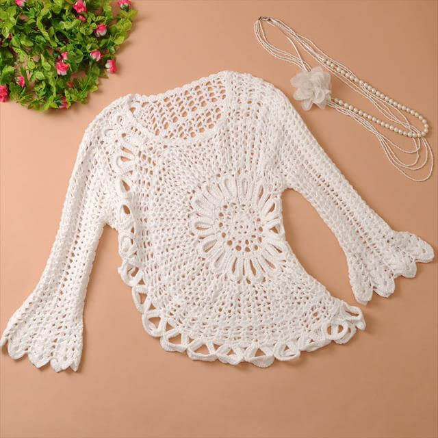 Crochet Flower Cardigan Pattern : 9 DIY Crochet Cardigan Sweater DIY to Make