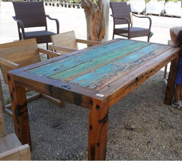 11 diy outdoor table and bench design diy to make for Diy garden table designs