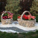 Stones And Rock Basket