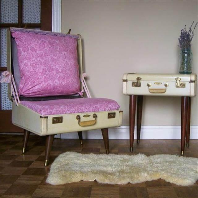 Home Decor Suitcase Chair Design
