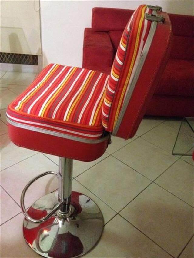 Round Suitcase Chair