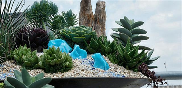 Outdoor Mini Rock Garden