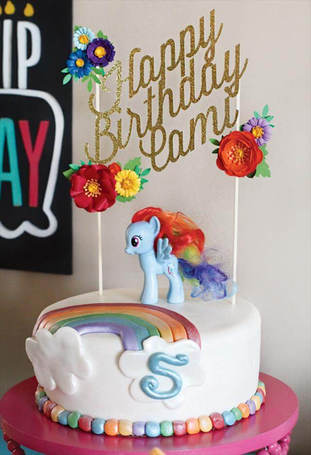 Rainbow Cake DIY