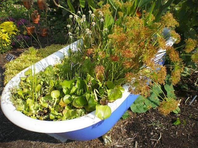 Tub Bath Planter Idea