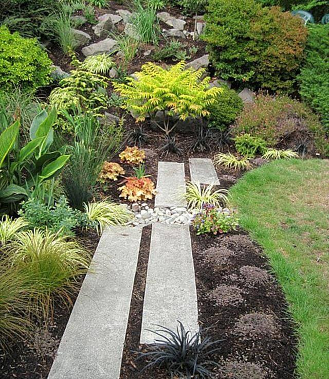 DIY Rock Path Way