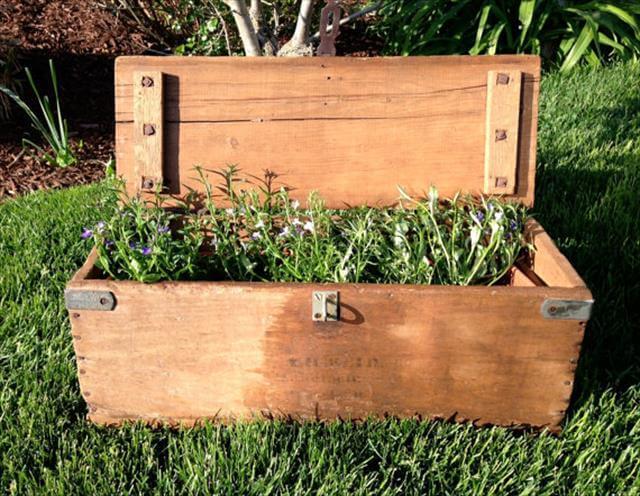 Simple Tool BOX Garden Idea