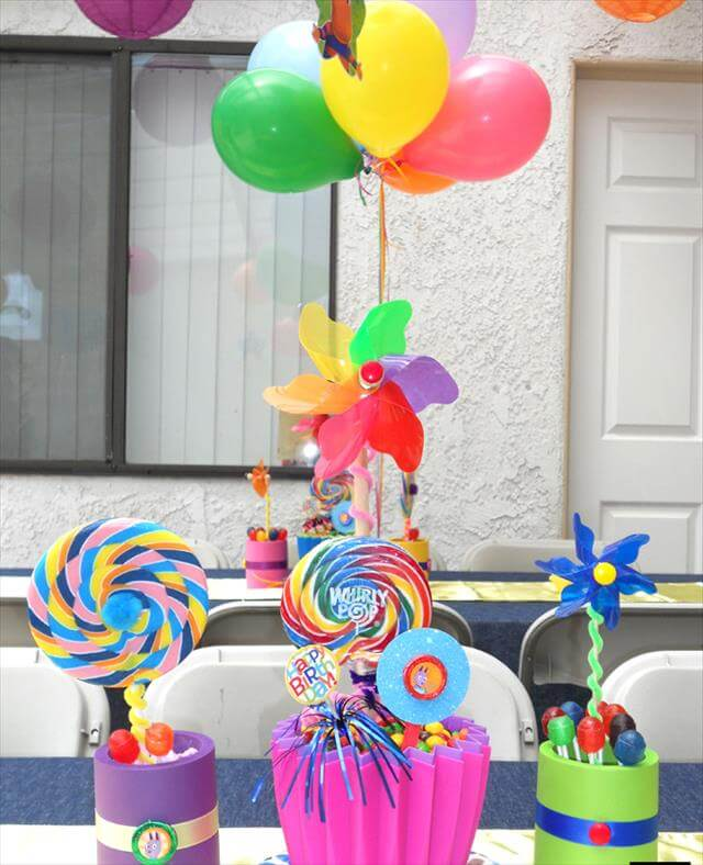 11 diy candy party decor centerpiece ideas rh diytomake com candy themed decorations for birthday party