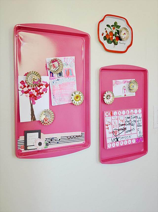 Cookie Sheet Magnet Board