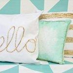 Diy glam pillow lifestyle