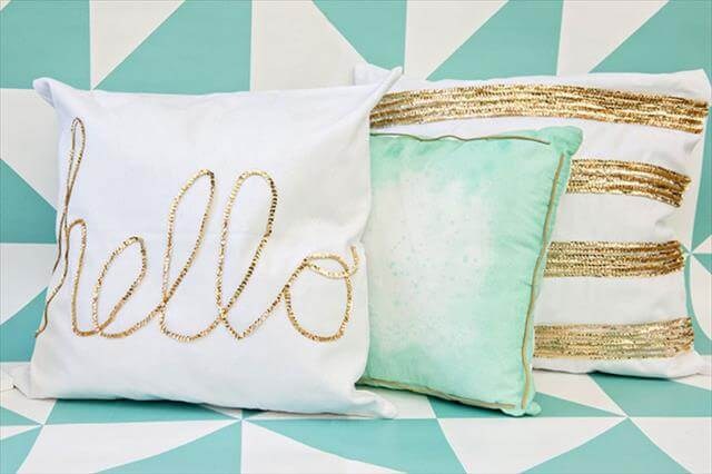 10 DIY Ideas Decorative Throw Pillows & Cases DIY to Make