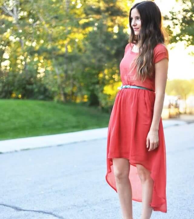 Sheer High-Low Dress