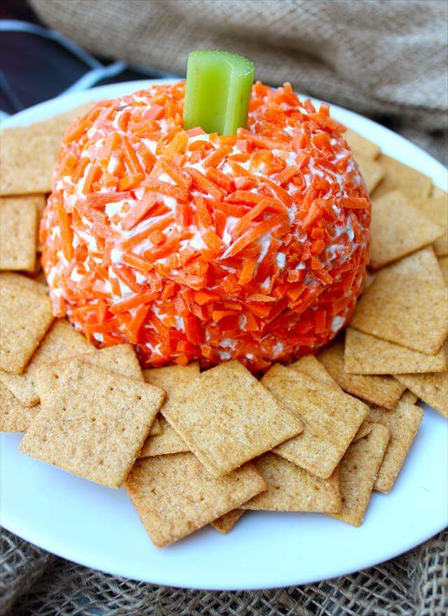 pumpkin cheese ball - Halloween Party Appetizers With Pictures