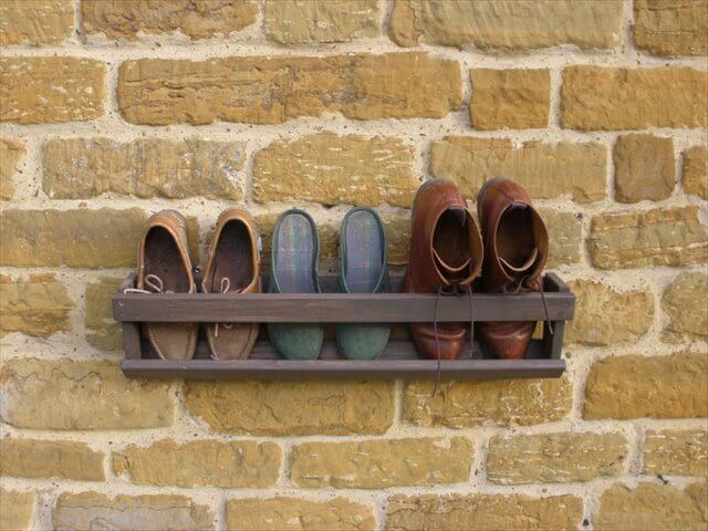 wooden wall boot