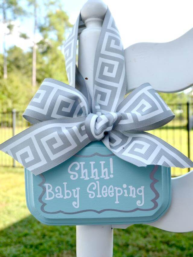 DIY Sleepy Sign Fir Baby