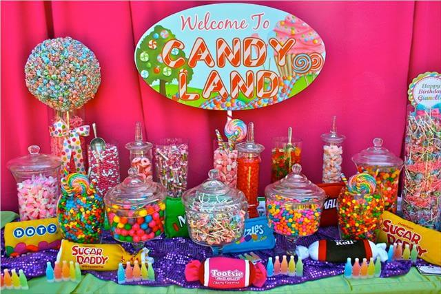 Unique Candy Centerpieces