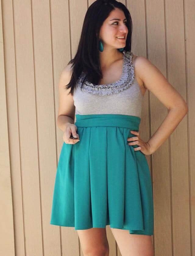 Upcycled Ruffle Dress