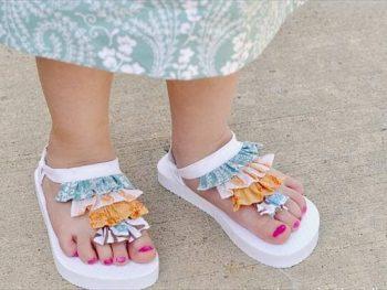 Ruffled Baby Sandals