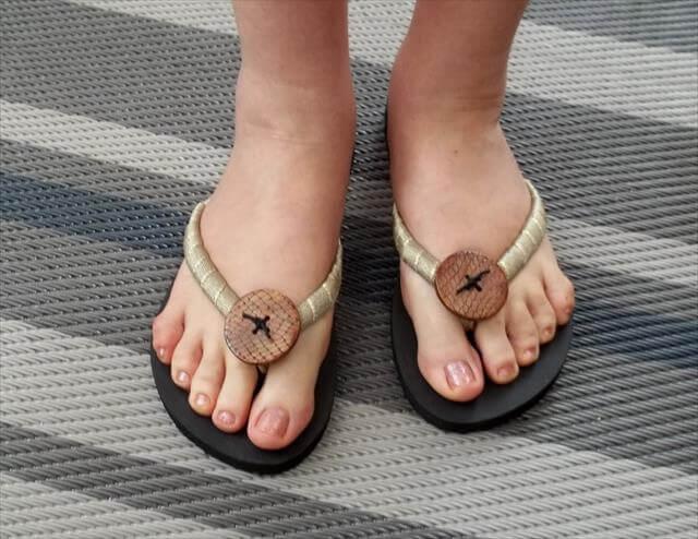 Button Sandals