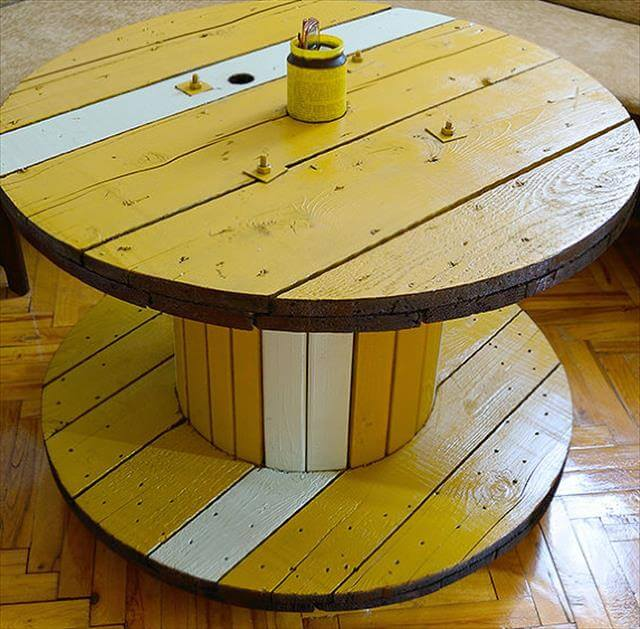 13 diy cable spool table ideas diy to make for Wooden cable reel ideas