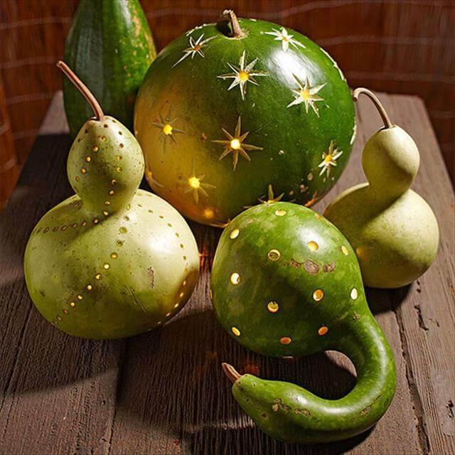DIY Carved Gourds