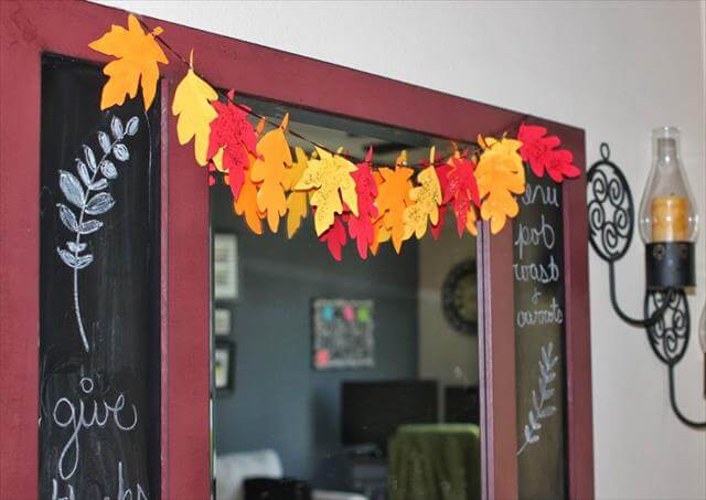 DIY Leaf Paper garland