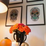 DIY Day Of The Dead Wall Art Design