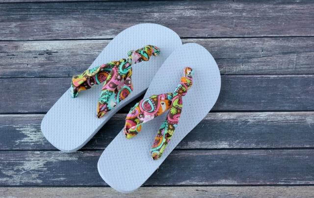 Knotted Fabric Flip Flops