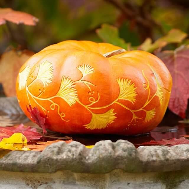 DIY Orage Pumpkin Decorated