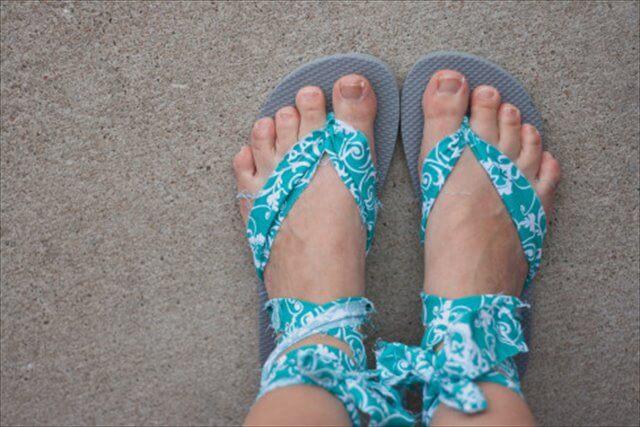 . Fabric Gladiator-Style Sandals