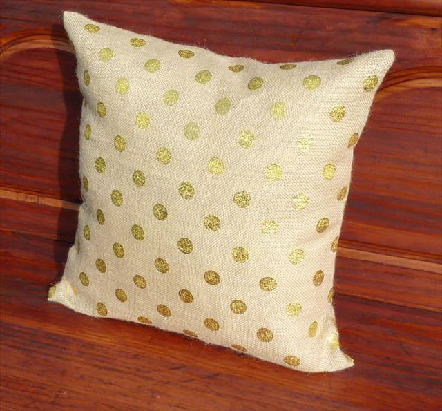 White Pillow With Polka Dot Cover