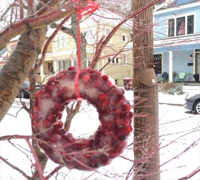 DIY ICe Wreath