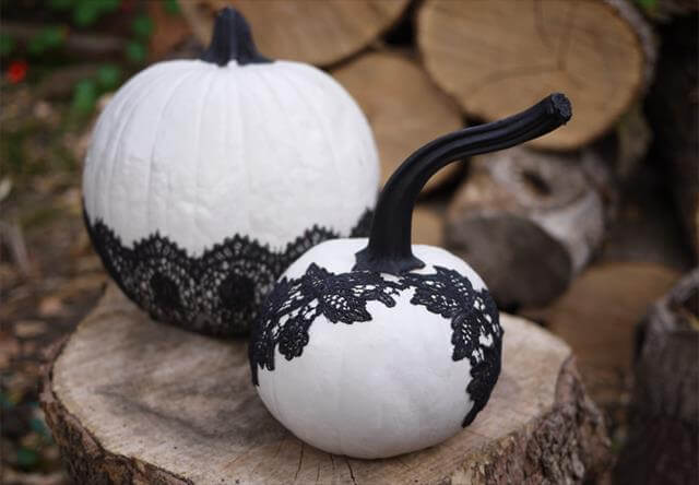 Black Lace Pumpkins