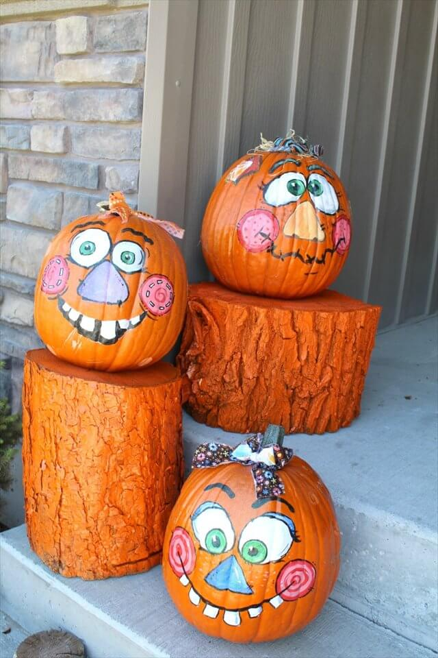 log pumpkins