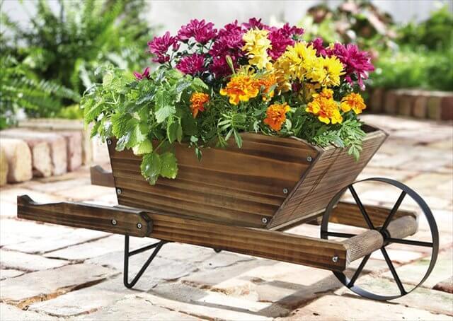 Flower Wheelbarrow Idea
