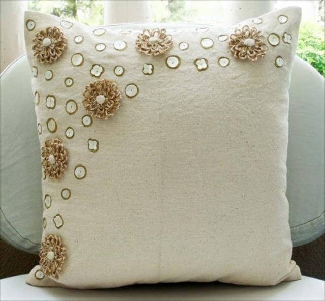 Throw Pillow Decorating Ideas : 10 DIY Ideas Decorative Throw Pillows & Cases DIY to Make