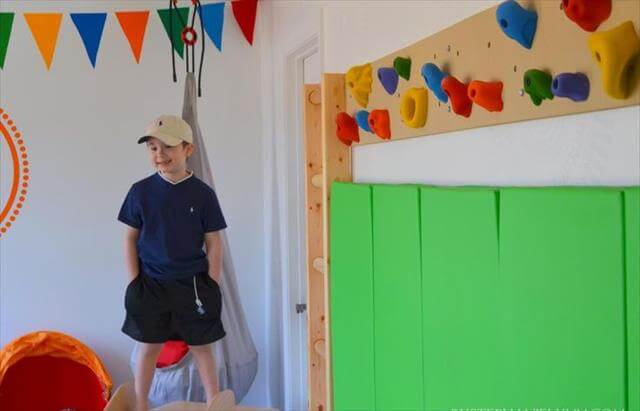 DIY Indoor Playroom Climbing Ladder