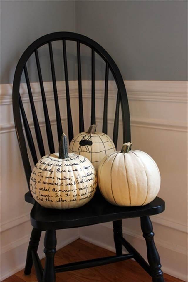 DIY Pumpkin Sharpie Idea