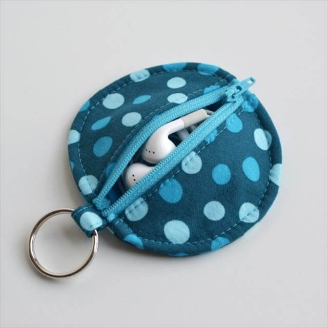 Fabric Earbud Pouch