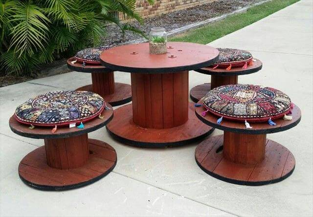 13 Diy Cable Spool Table Amp Ideas