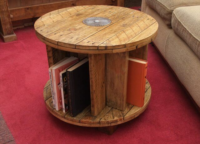 13 diy cable spool table ideas diy to make for Large wooden spools used for tables