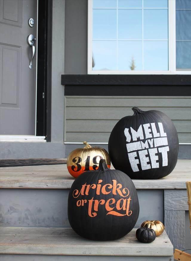 DIY Hand Made Word Pumpkin