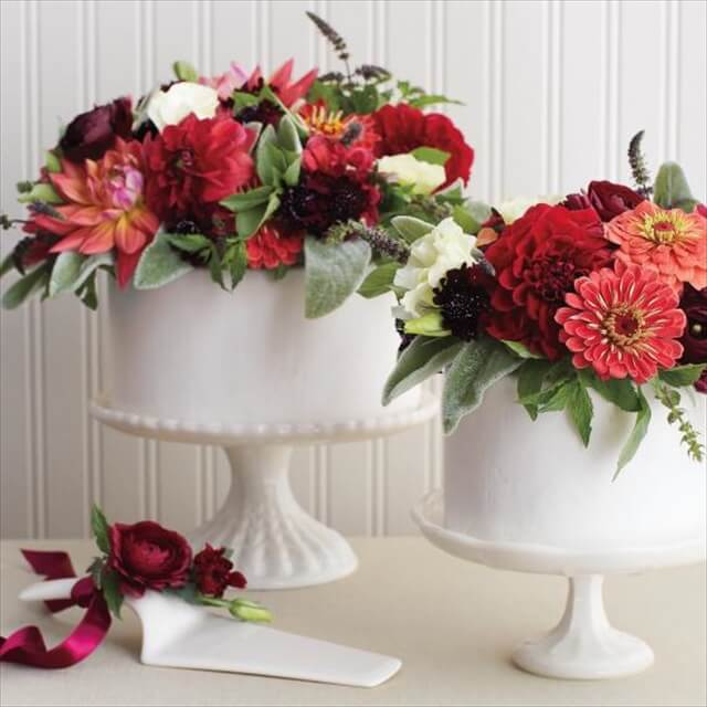 Fresh Flowers For Wedding Cake Topper