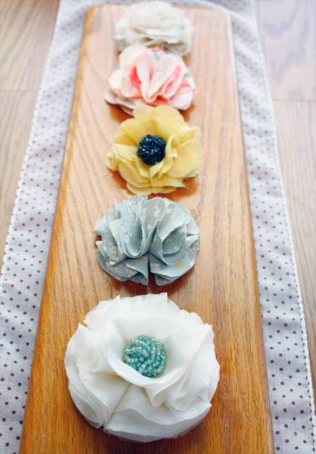 Baby Fabric Flowers