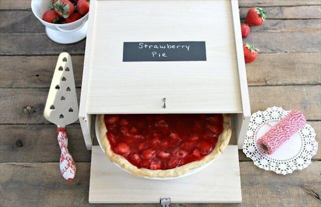 Wood Pie Box