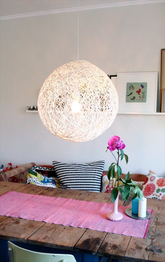 Diy Whirl Yarn Chandelier String