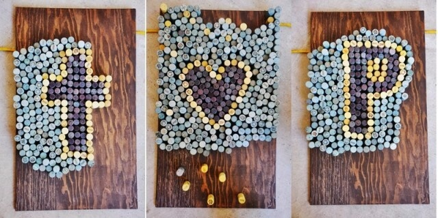 Dyed Wine Cork Art