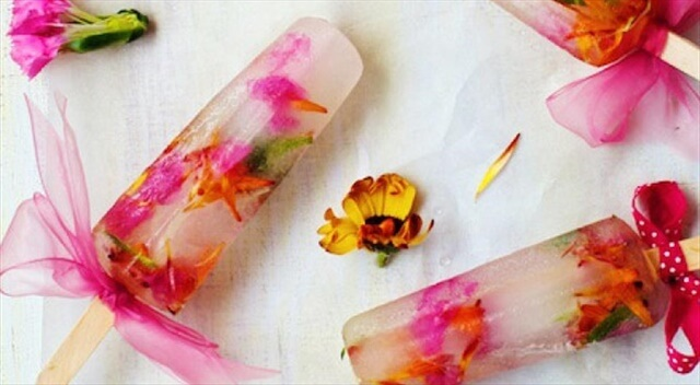 DIY Edible Flower Ice Pops