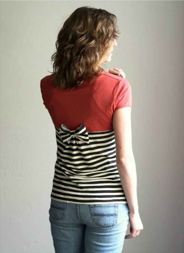 Gathered Back T-Shirt Refashion